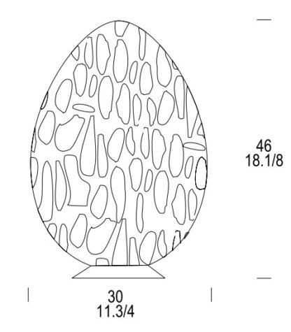 leucos.uovo .46t.tischleuchte