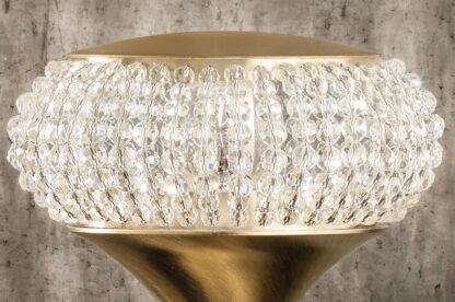 Masiero Cristalis Tischleuchte Glas Detail